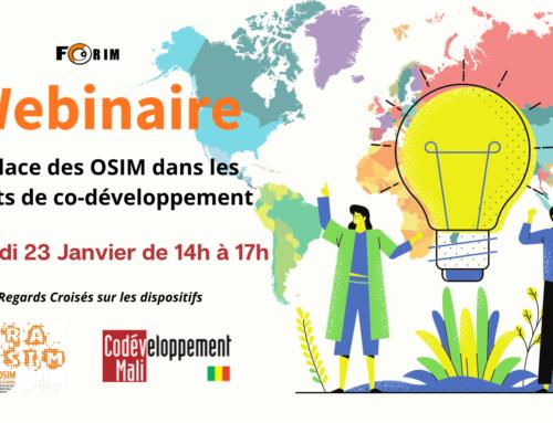 Webinaire : «La place des OSIM dans les projets de co-développement : Regards Croisés sur les dispositifs PRA/OSIM et PMMD »